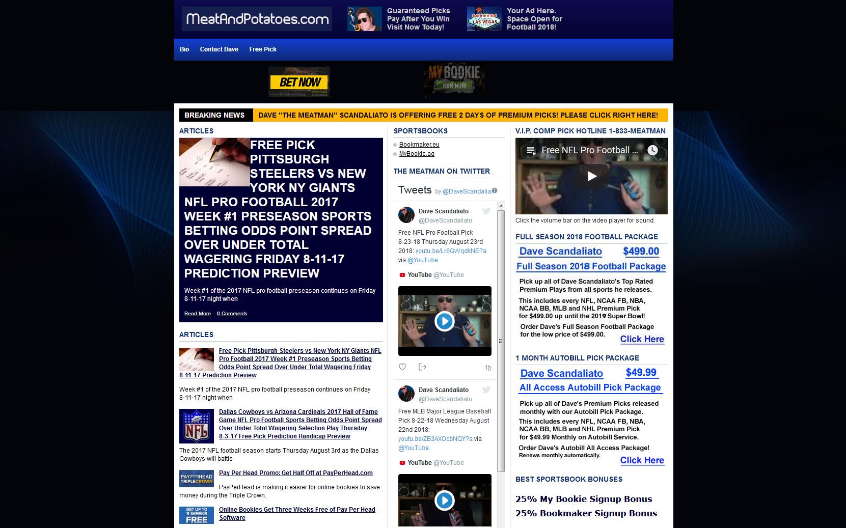 MeatAndPotatoes.com – Winning Free and Premium Picks by Dave Scandaliato