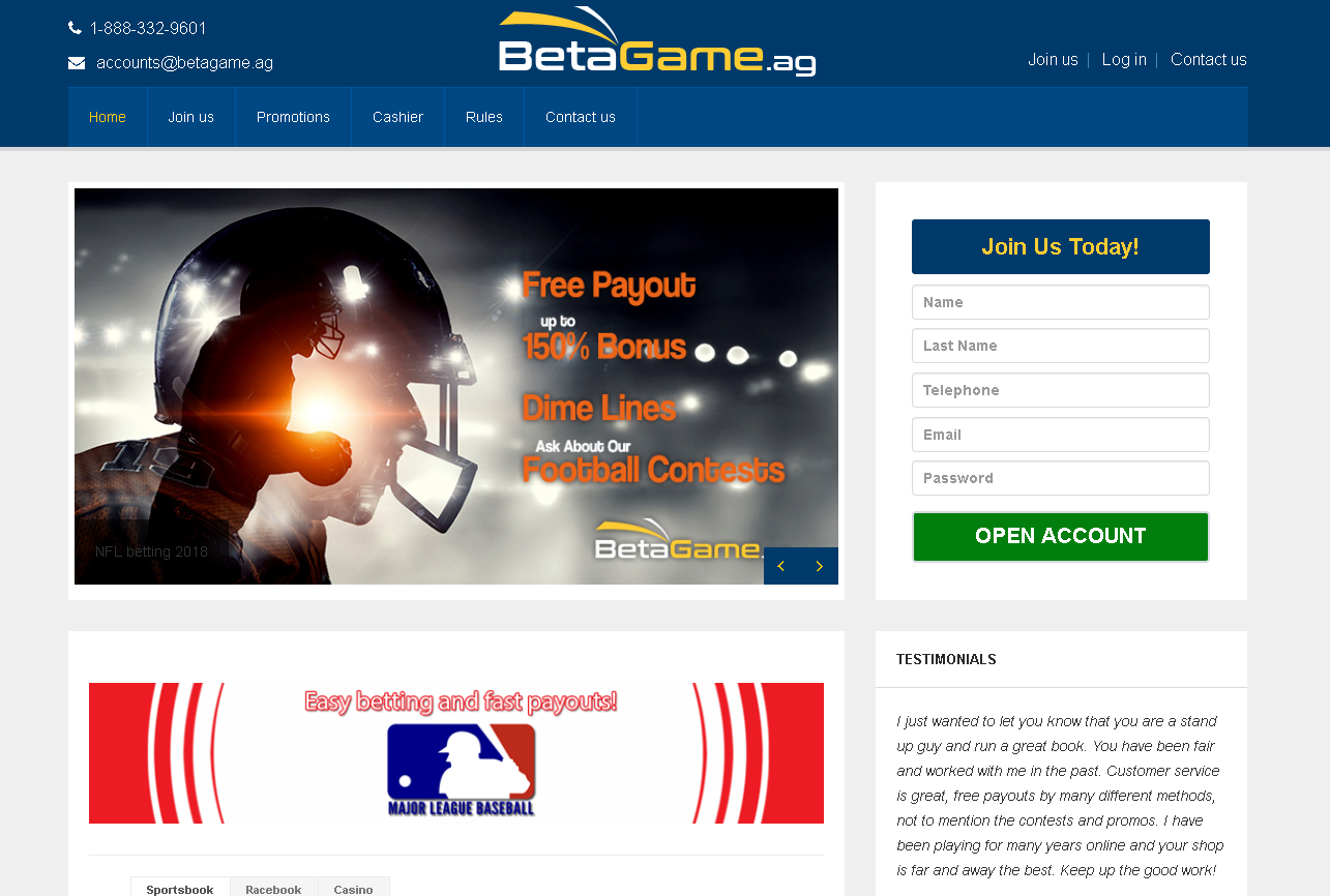 Bet a Game Review – A Reliable, Trustworthy and User Friendly Bookie