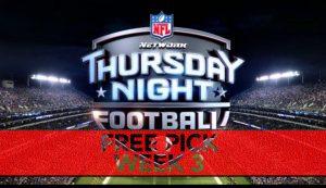 Thursday Night Football Free Pick | Week 3