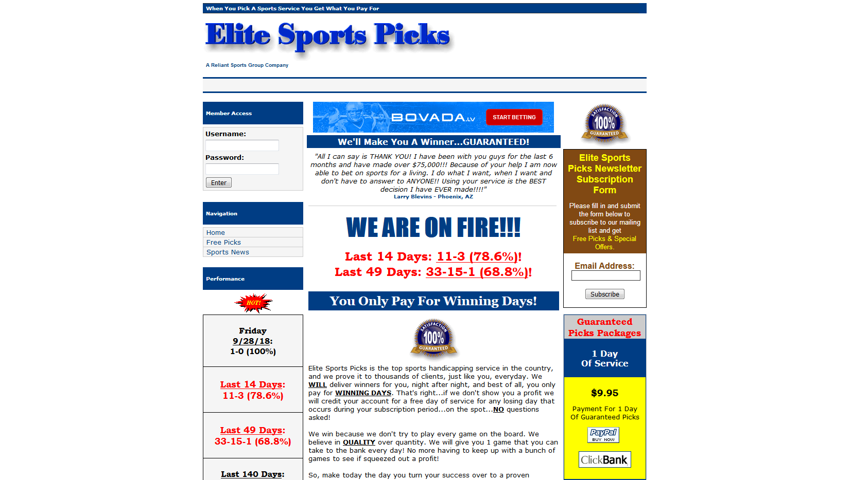 Elite Sports Picks