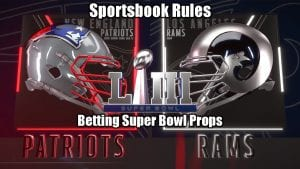 Sportsbook Rules   Betting Super Bowl Props