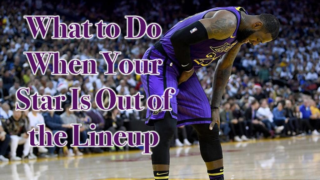 What to Do When Your Star is Out of the Lineup