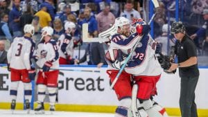 Blue Jackets Upset Lightning in Game 1