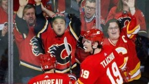 Flames take Game 1 against Avalanche