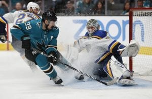 Center Logan Couture leads NHL Playoff scoring
