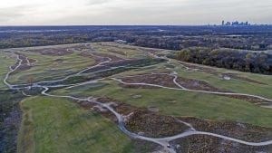 Wide fairways and open land at Trinity Forest favor golfers like Mitchell