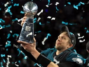 Foles earned Super Bowl glory as MVP in 2017