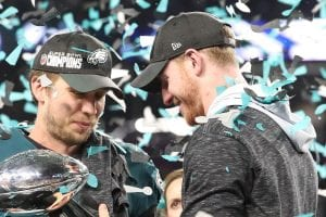 Wentz watched Foles win a Super Bowl as his backup